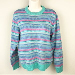 VTG 80s LL Bean Kawaii Easter pastel Sweater